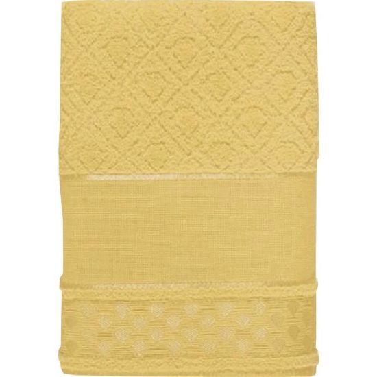 Toalha de Lavabo Alice Para Bordar 33cm x 50cm - Karsten Amarelo 196