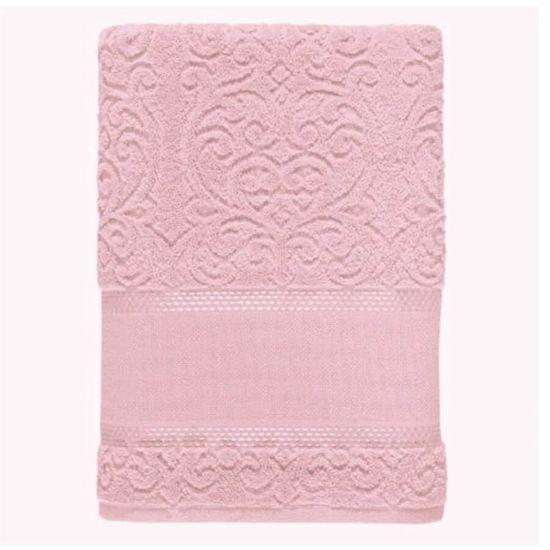 Toalha de Rosto Melina II Para Bordar 50cm x 80cm - Karsten - Rosa Cristal 229