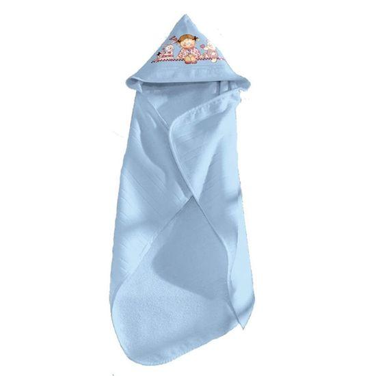 Toalha de Banho com Capuz Artesanalle Para Pintar 90cm x 70cm - Dohler - Azul 7239
