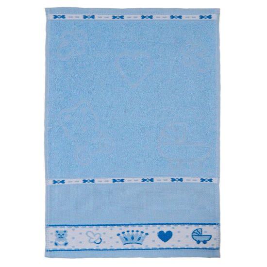 Toalha de Lavabo Baby Para Bordar 32cm x 45cm - Appel - Azul 652