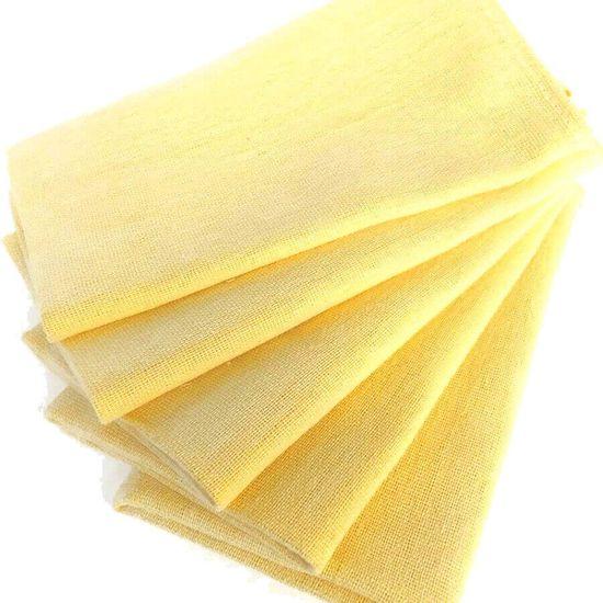 Pano de Prato Roma Colorido com Bainha 05 unidades - A Sacaria - Amarelo