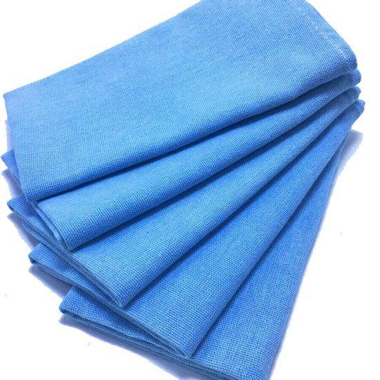Pano de Prato Roma Colorido com Bainha 05 unidades - A Sacaria - Azul