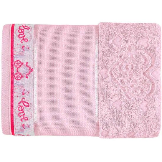 Toalha de Lavabo Love Para Bordar 33cm x 50cm - Karsten - Rosa Cristal 229