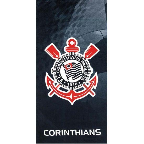 Toalha de Praia Velour Times 70cm x 1,40m - Dohler - Corinthians 11