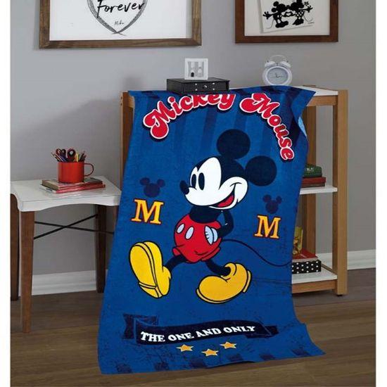 Toalha de Praia Velour Estampado III Mickey/Minnie 76cm x 1,52m - Dohler - Mickey 03