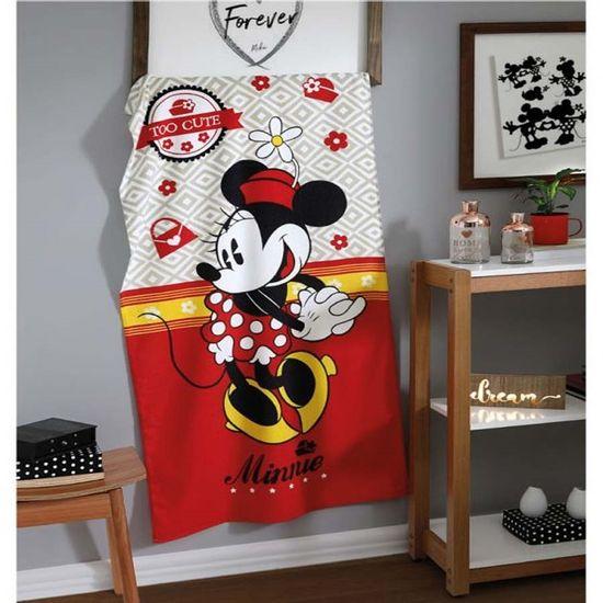 Toalha de Praia Velour Estampado III Mickey/Minnie 76cm x 1,52m - Dohler - Minnie 03