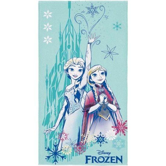 Toalha de Banho Aveludada Frozen 70cm x 1,40m - Lepper - Azul Claro 6116588
