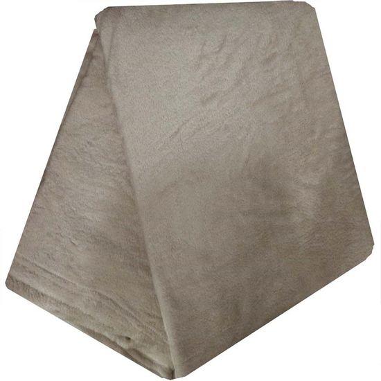 Cobertor de Microfibra Liso Queen 2,40m x 2,20m - Camesa - Bege