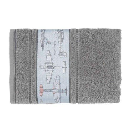 Toalha de Banho Infantil Aero 67cm x 1,35m - Karsten Cinza Steel 80109