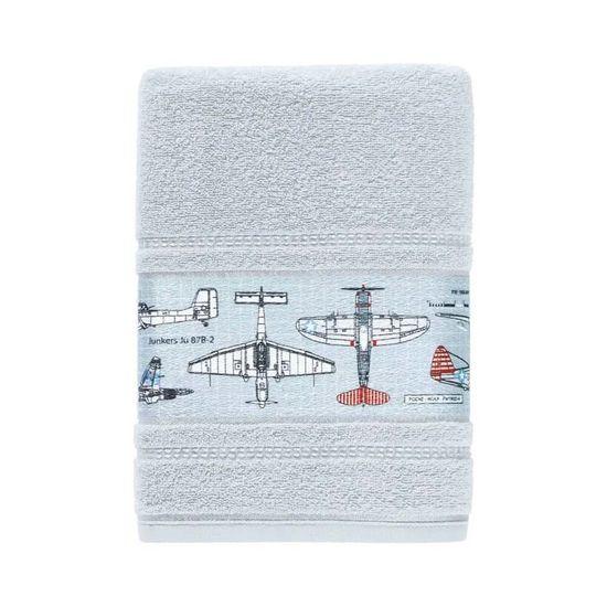 Toalha de Banho Infantil Aero 67cm x 1,35m - Karsten - Azul Glacê 30146
