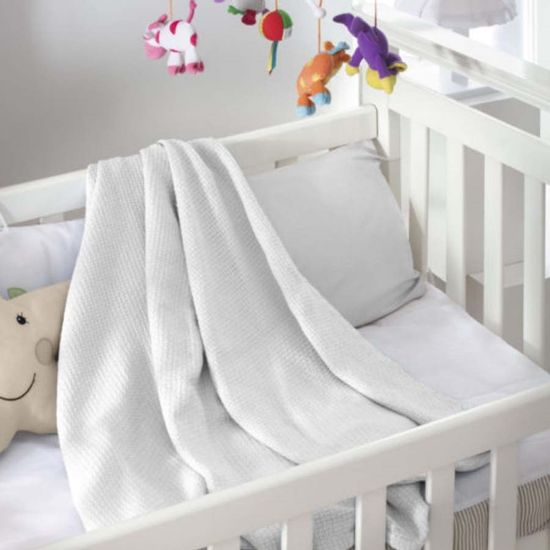 Cobertor Infantil Premium Baby King Ninho 1,00m x 1,40m - Jolitex - Branco