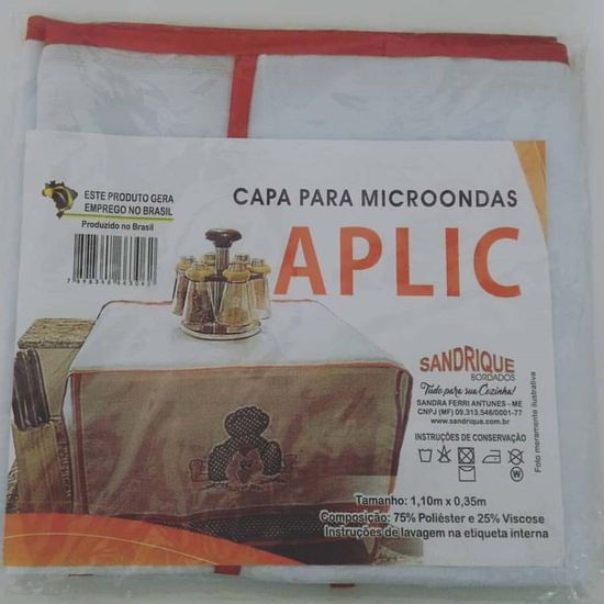 Capa Para Microondas Aplic 1,10m x 35cm - Sandrique Variadas