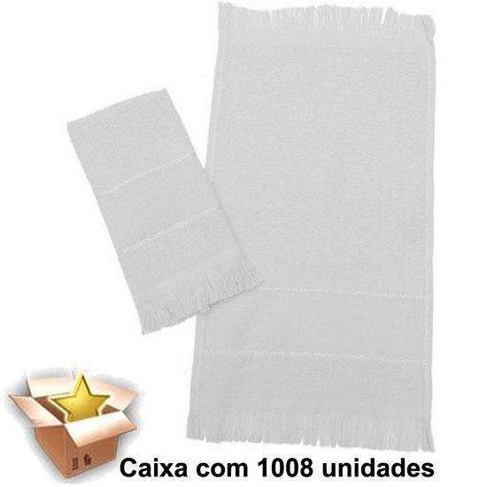 Toalha Social com Franja Branca Caixa com 1008 unidades - A Sacaria Toalha Social com Franja Branca Caixa com 1008 unidades - Marcotex