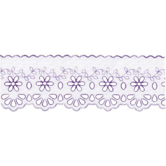 Lasy Crochê Mod:53 Color 3,5cm x 10m - Marilda Lilás 216.08