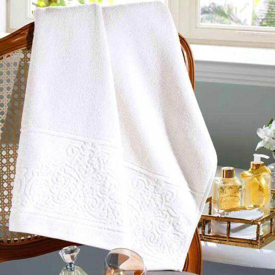 Toalha de Banho Jacquard Confort Liso 70cm x 1,40m - Dohler - Branco